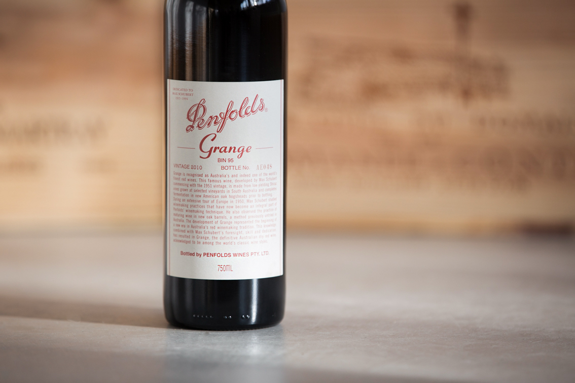 Penfolds Grange Liquid Grape Winelist